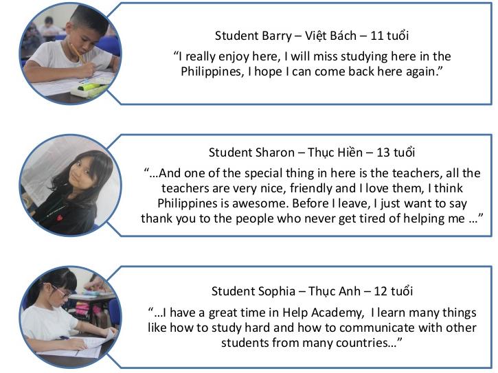 Cảm nhận học viên tại trại hè tiếng Anh trường HELP